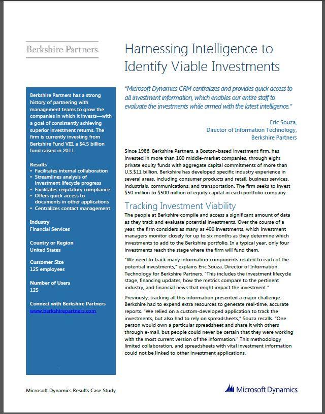 Berkshire Partners CRM Choice